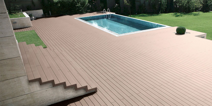 Wpc decking wood covering for Wpc decking